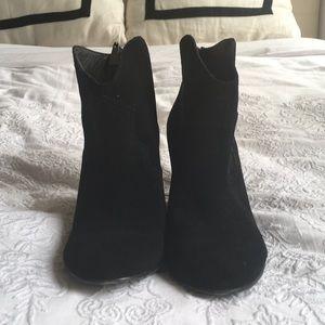 Ralph Lauren suede western heeled booties
